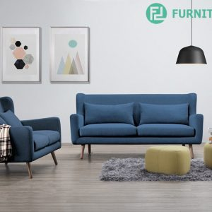 ANNY scandinavian 1+2+3 seater fabric sofa-blue