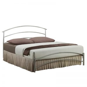ANSON queen size metal bed frame-Silver