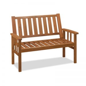 ATHENS solid acacia 2 seater bench
