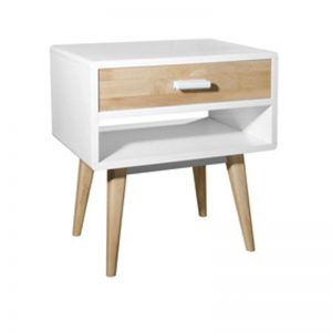 AUSTIN full solid rubberwood bedside table-4 colours