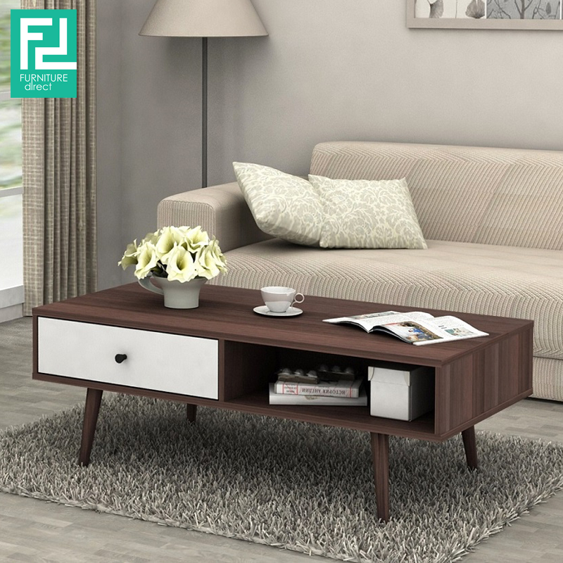ADELLE Ft Coffee Table With Drawers FurnitureDirectcommy - 3ft coffee table