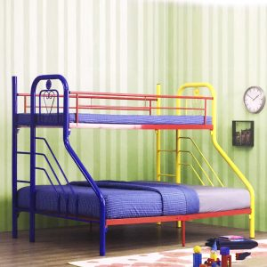 AMENIA single over queen metal bunk bed