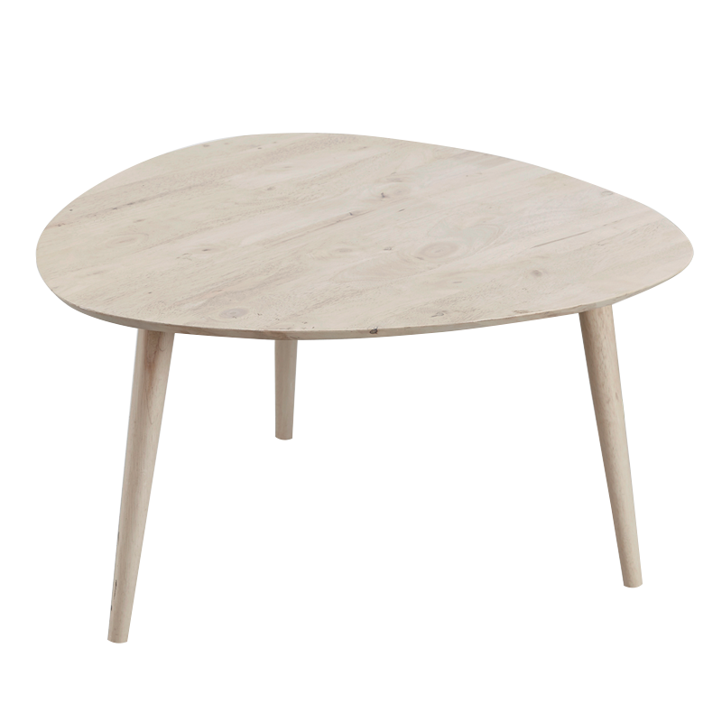 Clearance Betty Full Solid Wood Triangle Coffee Table Last Unit