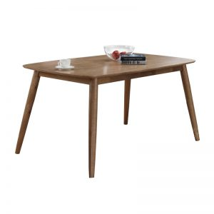 BERLIN full solid rubberwood 150x90cm dining table