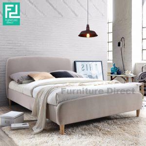 YORK queen size fabric bedframe- beige