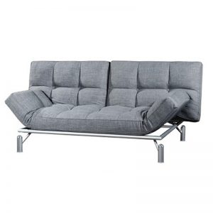 CAMILA premium grade fabric sofa bed-grey