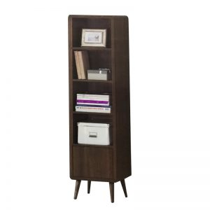 CONSTANCE high storage rack side table bookcase-walnut