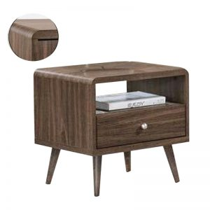 CONSTANCE side table- walnut