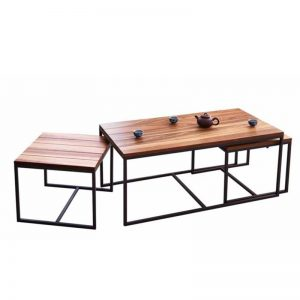 DALLAS solid Almond wood space saving coffee table