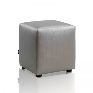 Clearance-DUBAI custom made square stool-grey (Last Unit)