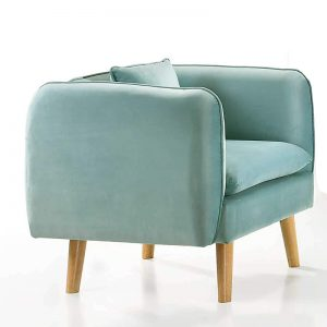 EVERLYN custom made 1 seater fabric sofa-turquoise