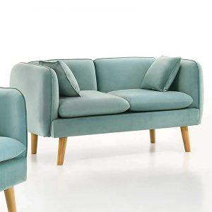 EVERLYN custom made 2 seater fabric sofa-turquoise