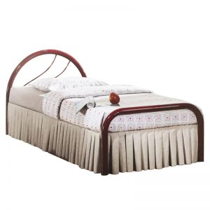 FIJI single size metal bed-red