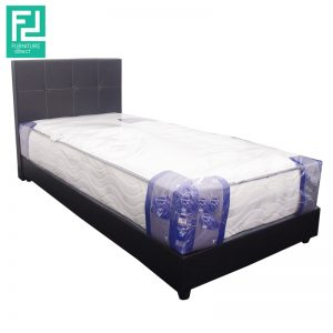 FOSTER single size PVC divan bed- black
