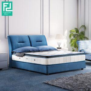 Clearance- HOLSEN queen size waterproof bedframe- blue