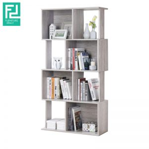 JAYDEN bookshelf divided-grey oak