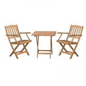 KAVALA 2 seater outdoor folding tea set with arm rest