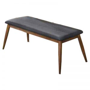 MANCHESTER cushion seat PU bench-black