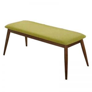 MANCHESTER cushion seat fabric bench-green