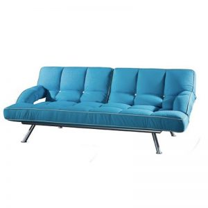 MILA premium grade fabric sofa bed-blue