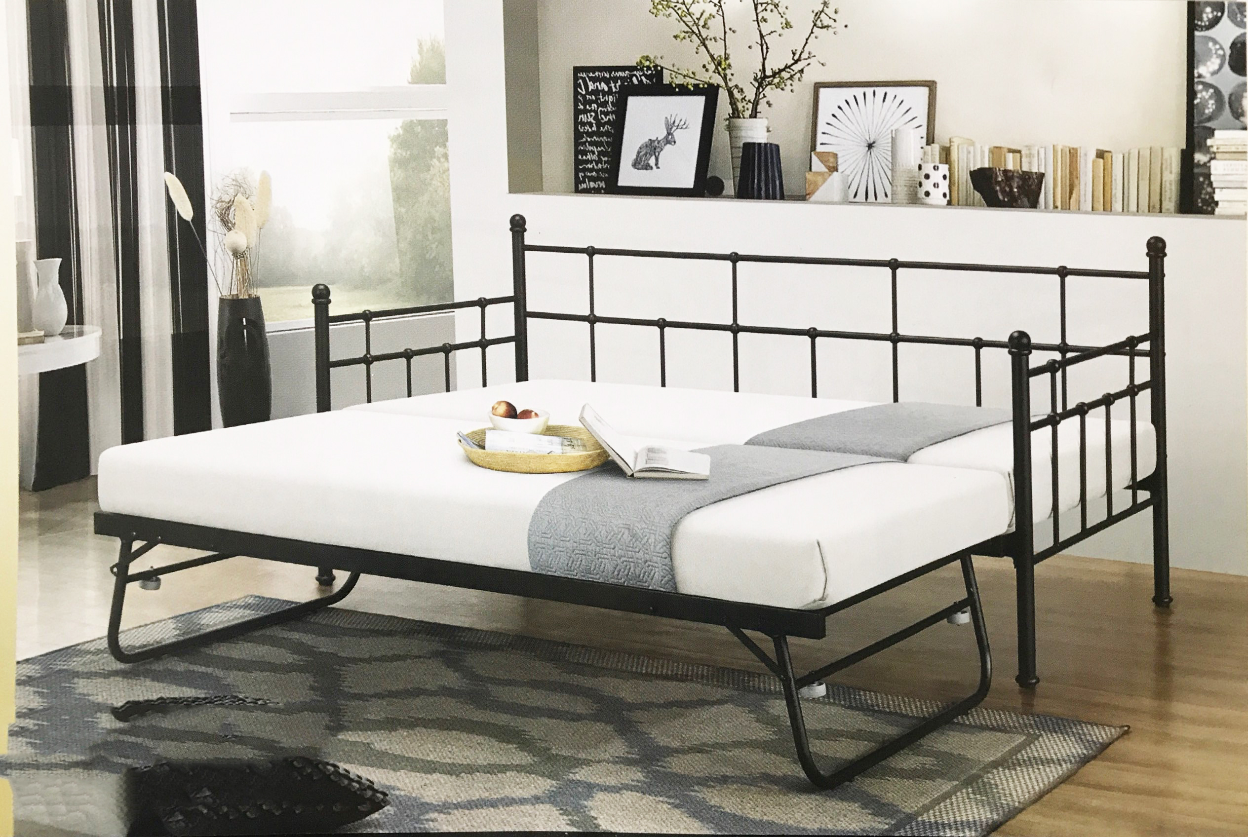 - BAGO Daybed With Trundle Could Convert Into Queen Bed