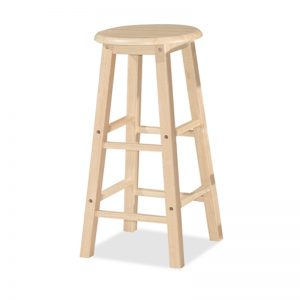 "POLO 24"" full solid wooden stool-4 colours"