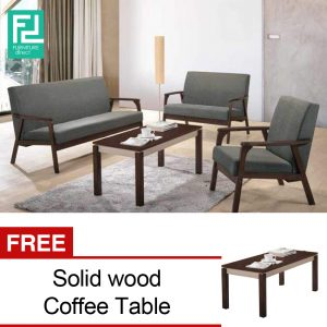 Parker sofa set with free coffee table-Grey