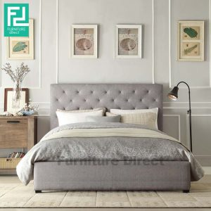 RILEY queen size waterproof bed frame-grey