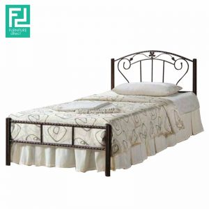STOWE single metal bed frame-broze
