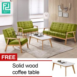 SOMERSET Solid Wood Sofa Set-Green