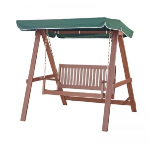VOLOS solid meranti swing with canopy
