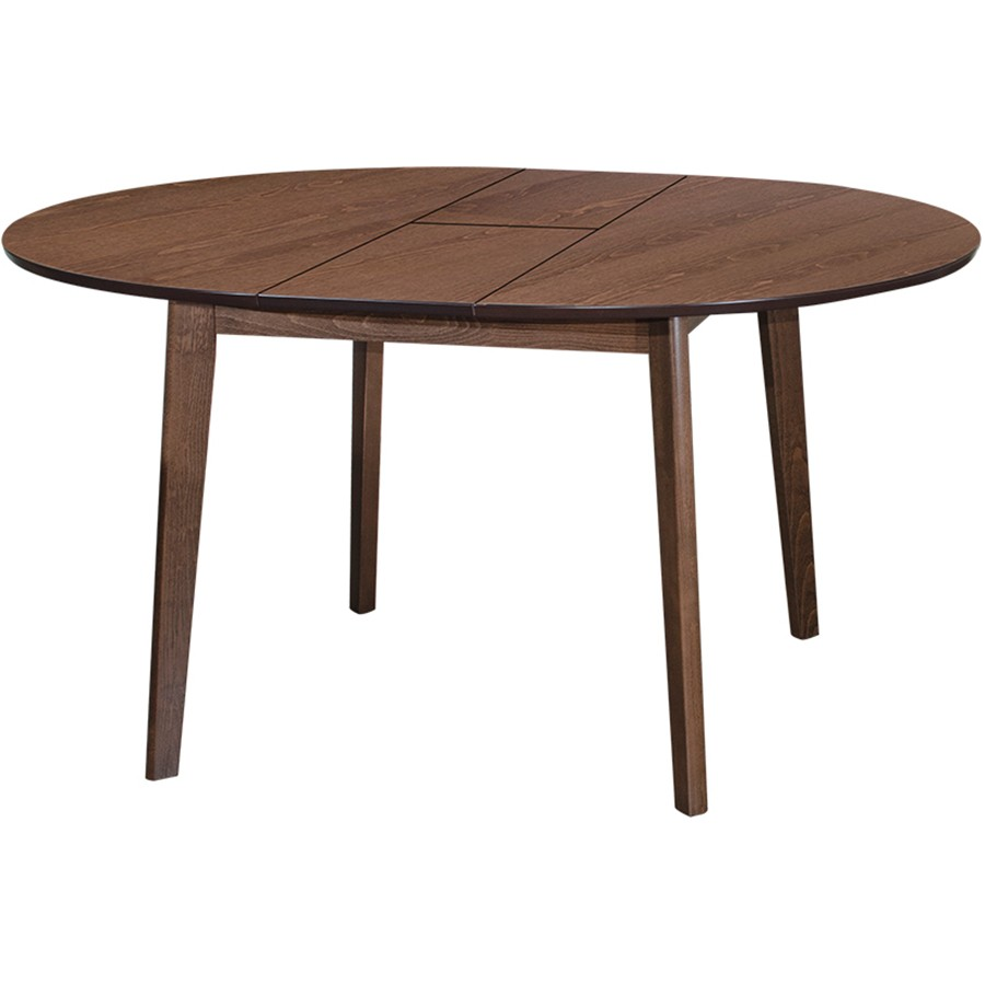 Cartier 4ft Solid Beech Wood Extension Dining Table Walnut