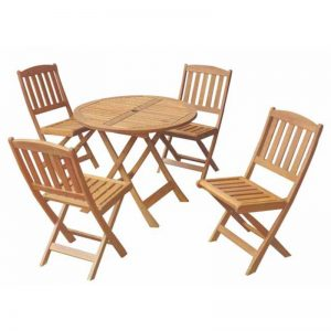 NANCY solid acacia 4 seater outdoor folding set