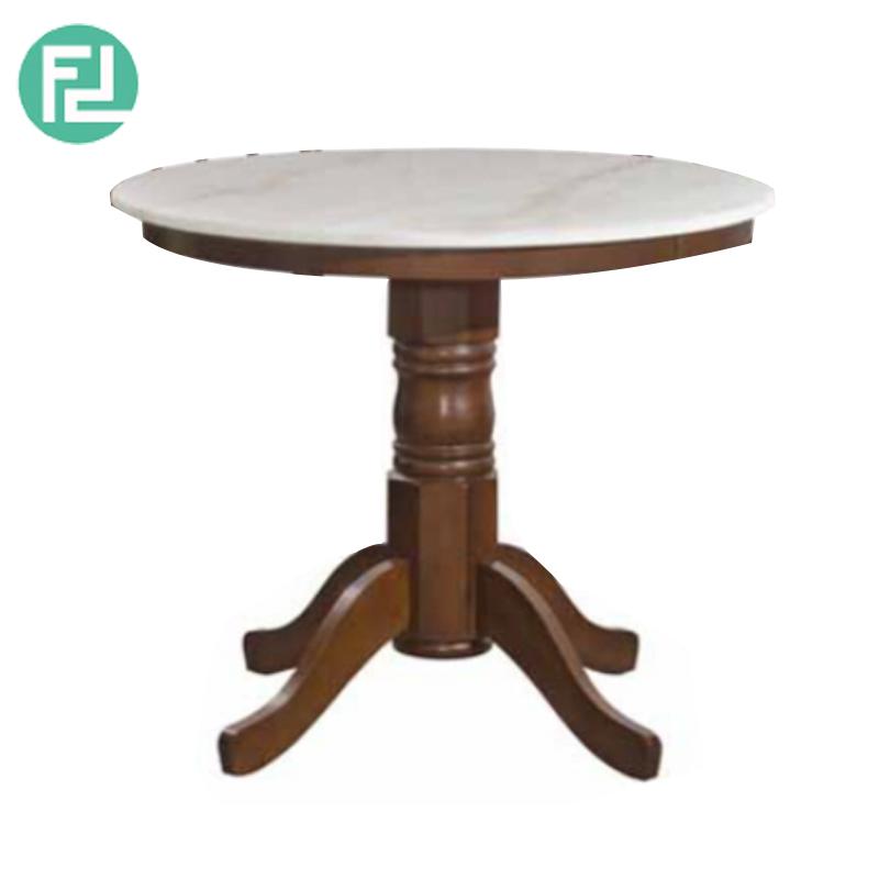 Shanghai 3ft Marble Top Kopitiam Dining Table Walnut Furnituredirect Com My