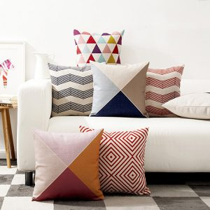 Nordic Geometric Cushion Cover