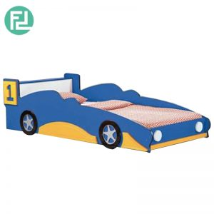 F1 RACING CAR kids bed-blue