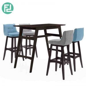 ATLANTA full solid wood 4 seater bar set-cappucino