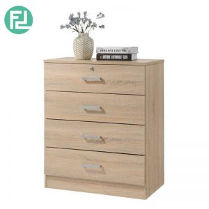 BARDON 4 drawer chest of drawers with key lock- sonoma oak