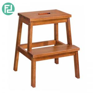 BOISE full solid rubberwood 20inc step stool- 4 colors