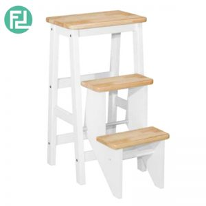 BOISE full solid rubberwood 29inc step stool- 4 colors