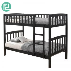BOSTON full solid double decker bunk bed- cappucino