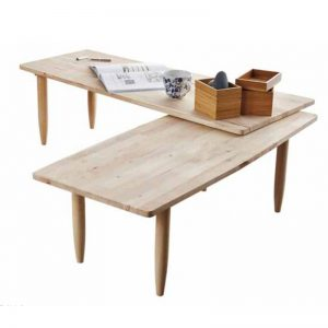 BUSAN Twistable solid wood coffee table