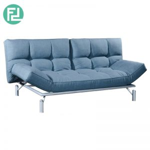 CAMILA premium grade fabric sofa bed-blue