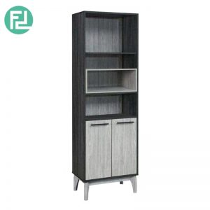CHESTER 2 door display cabinet hall cabinet bookcase-grey