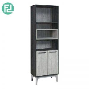 CHESTER 2 door display cabinet hall cabinet bookcase-grey