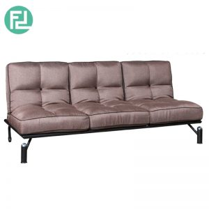 PAOLA 3 seater adjustable position sofa bed-brown