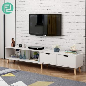 COPENHAGEN 6ft expandable TV cabinet-white