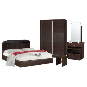 DARWIN queen size bedroom set-wenge