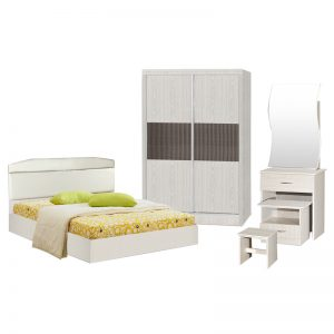 DARWIN queen size bedroom set-white
