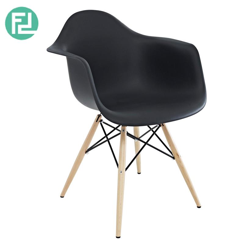 Doris Plastic Arm Dining Chair Black Furnituredirect Com My